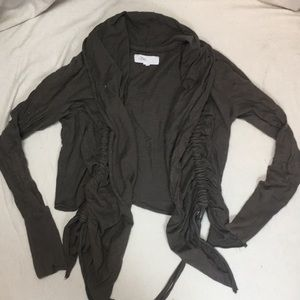 Anthropologie Lilka ruched Open cardigan L